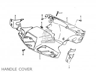 Suzuki Ah100 1994 r Handle Cover