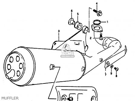 Suzuki Ah100 1994 r Muffler