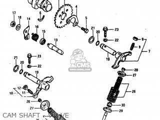 Suzuki Alt185 1985 f Usa e03 Cam Shaft - Valve