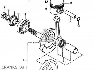 Suzuki Alt185 1985 f Usa e03 Crankshaft