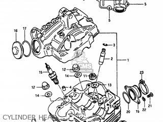 Suzuki Alt185 1985 f Usa e03 Cylinder Head
