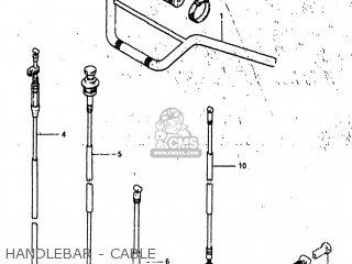 Suzuki Alt185 1985 f Usa e03 Handlebar - Cable