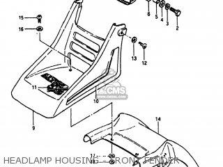 Suzuki Alt185 1985 f Usa e03 Headlamp Housing - Front Fender