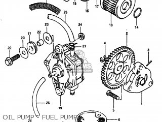 Suzuki Alt185 1985 f Usa e03 Oil Pump - Fuel Pump