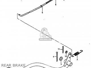 Suzuki Alt185 1985 f Usa e03 Rear Brake