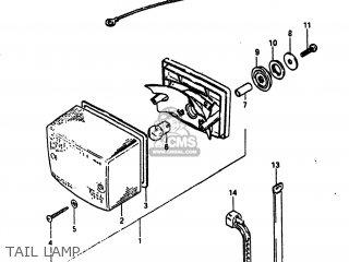 Suzuki Alt185 1985 f Usa e03 Tail Lamp
