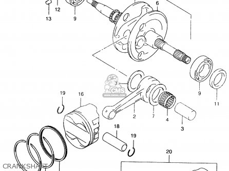 Suzuki An250 1999 x Crankshaft