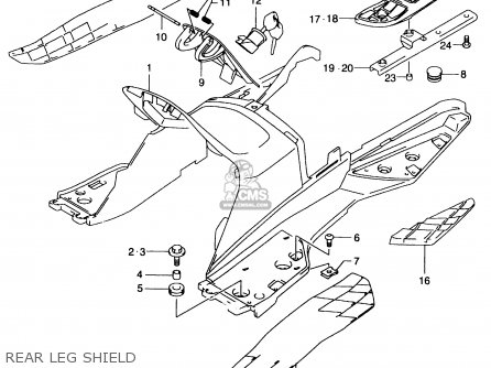 Suzuki An250 1999 x Rear Leg Shield