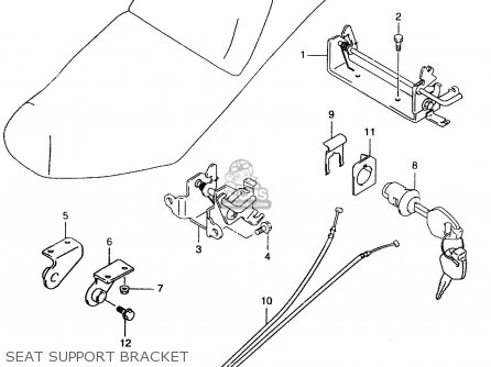 Suzuki An250 1999 x Seat Support Bracket