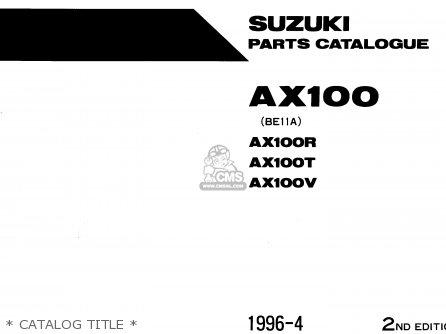 Suzuki Ax100 1994 r Barbados e94   P36 P48   Catalog Title