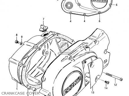 Suzuki Ax100 1994 r Crankcase Cover