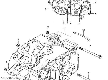Suzuki Ax100 1994 r Crankcase