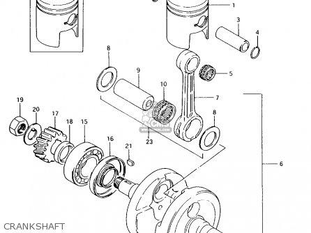 Suzuki Ax100 1994 r Crankshaft