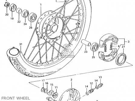Suzuki Ax100 1994 r Front Wheel