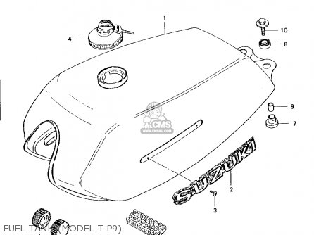 Suzuki Ax100 1994 r Fuel Tank model T P9