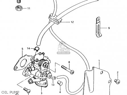 Suzuki Ax100 1994 r Oil Pump