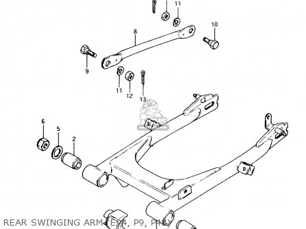 Suzuki Ax100 1994 r Rear Swinging Arm e94  P9  P48