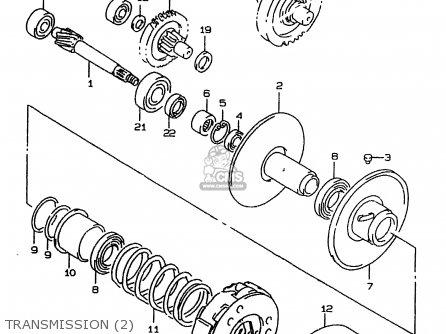 suzuki ay50 1997  v  parts list partsmanual partsfiche