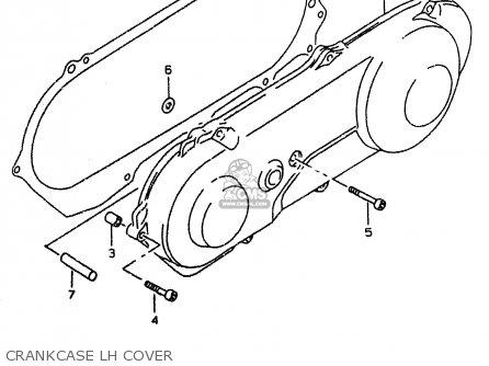 Suzuki Ay50 1999 wx Crankcase Lh Cover