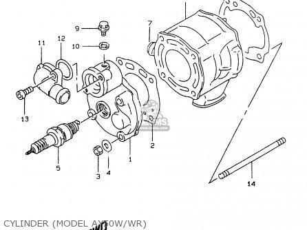 Suzuki Ay50 1999 wx Cylinder model Ay50w wr