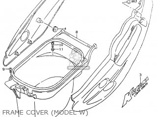 Suzuki Ay50 1999 wx Frame Cover model W