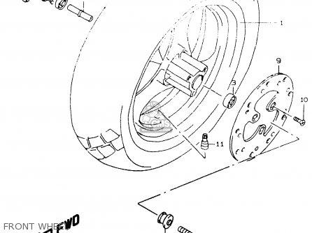 Suzuki Ay50 1999 wx Front Wheel