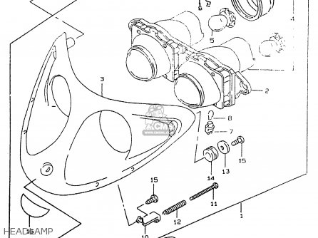 Suzuki Ay50 1999 wx Headlamp