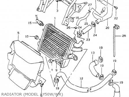 Suzuki Ay50 1999 wx Radiator model Ay50w wr
