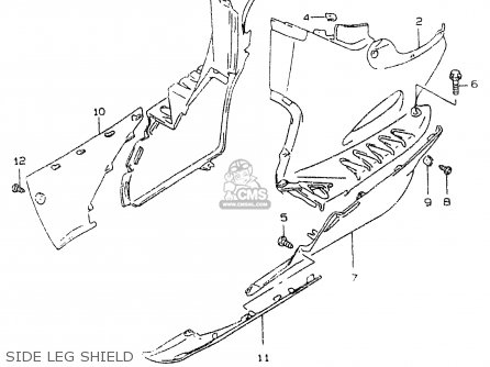 Suzuki Ay50 1999 wx Side Leg Shield