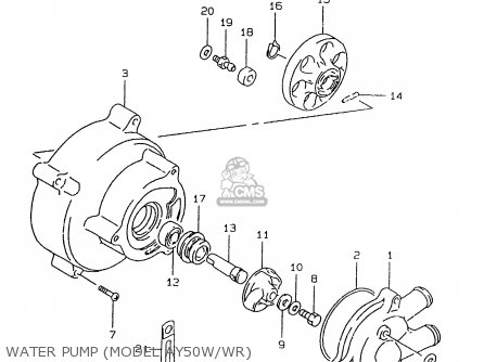 Suzuki Ay50 1999 wx Water Pump model Ay50w wr