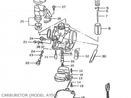 suzuki ay50 1999  x  parts list partsmanual partsfiche