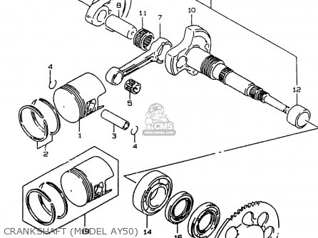 Suzuki Ay50w 1999 x Crankshaft model Ay50