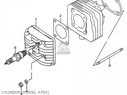 Suzuki Ay50w 1999 x Cylinder model Ay50