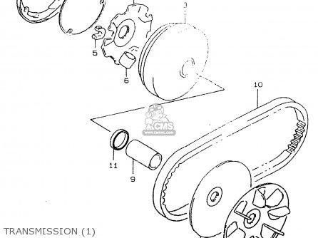 Suzuki Ay50w 1999 x Transmission 1