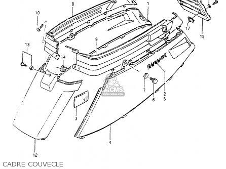 Suzuki Cp80 1985 chf Cadre Couvecle