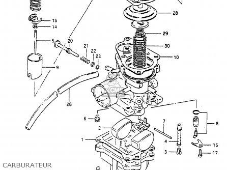Suzuki Cp80 1985 chf Carburateur