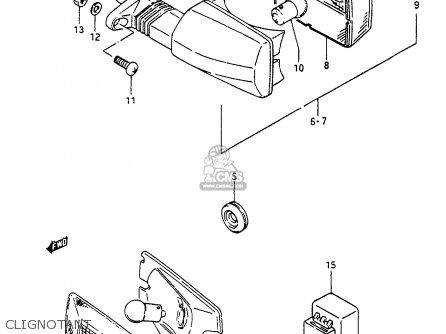 Suzuki Cp80 1985 chf Clignotant