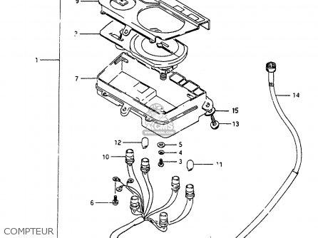 Suzuki Cp80 1985 chf Compteur