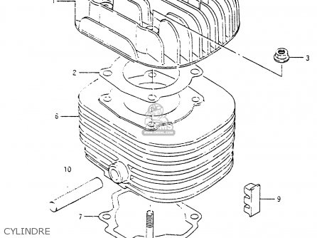 Suzuki Cp80 1985 chf Cylindre