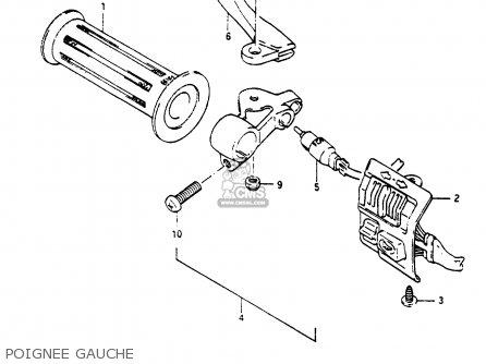Suzuki Cp80 1985 chf Poignee Gauche
