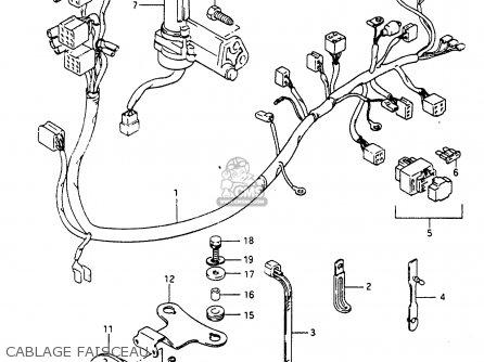 Suzuki Cp80ch 1985 f Cablage Faisceau
