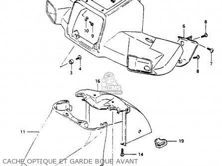 Suzuki Cp80ch 1985 f France e04 Cache Optique Et Garde Boue Avant
