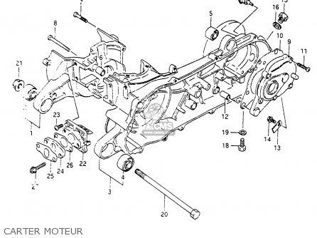 Suzuki Cp80ch 1985 f France e04 Carter Moteur