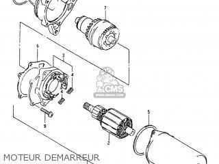 Suzuki Cp80ch 1985 f France e04 Moteur Demarreur