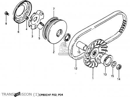 Suzuki Cp80ch 1985 f Transmission 1