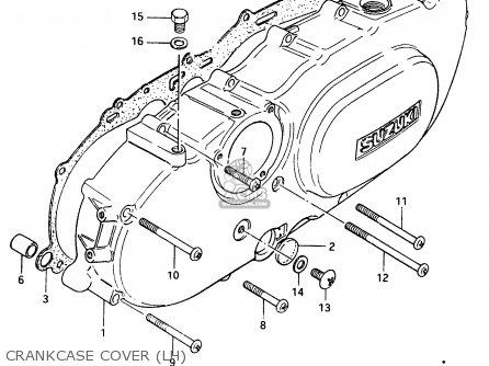 Suzuki Cs125 1983 d Crankcase Cover lh