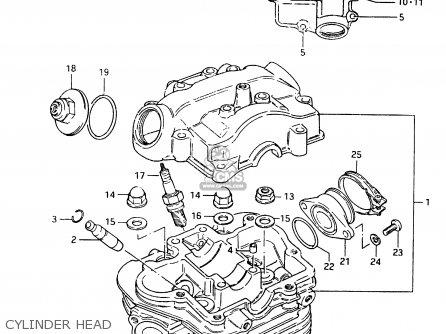 Suzuki Cs125 1983 d Cylinder Head