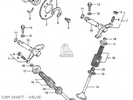 Suzuki Cs125 1983 d e1 E2 E4 E6 E15 E17 E18 E21 E22 E24 E25 E26 E39 Cam Shaft - Valve