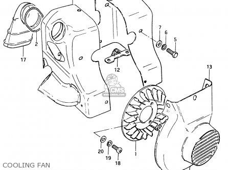 Suzuki Cs125 1983 d e1 E2 E4 E6 E15 E17 E18 E21 E22 E24 E25 E26 E39 Cooling Fan