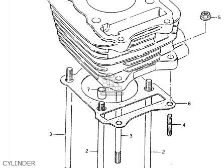 Suzuki Cs125 1983 d e1 E2 E4 E6 E15 E17 E18 E21 E22 E24 E25 E26 E39 Cylinder